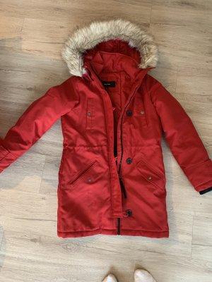 Vera Moda Manteau en duvet rouge