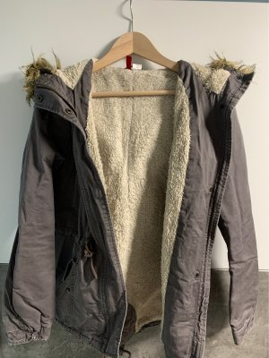 H&M Kurtka zimowa szary-srebrny