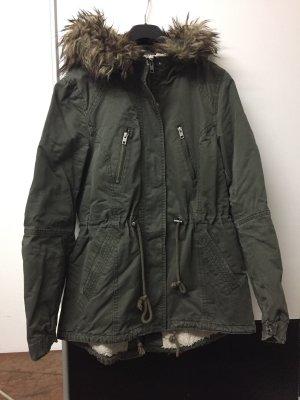 H&M Divided Kurtka zimowa khaki-szaro-brązowy