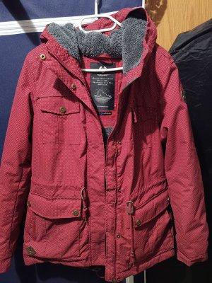 Ragwear Winter Jacket white-dark red