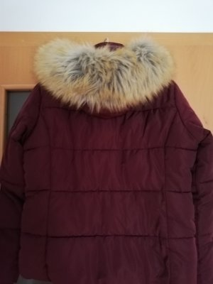 Topshop Giacca invernale bordeaux-marrone-rosso