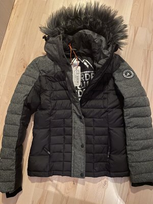 Superdry Kurtka zimowa czarny-szary