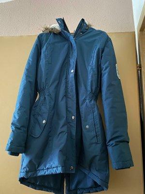 Manteau à capuche gris ardoise