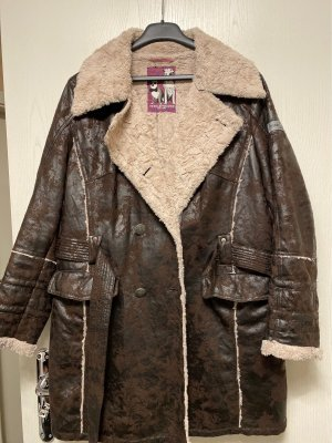 Frieda & Freddies New York Leather Coat dark brown