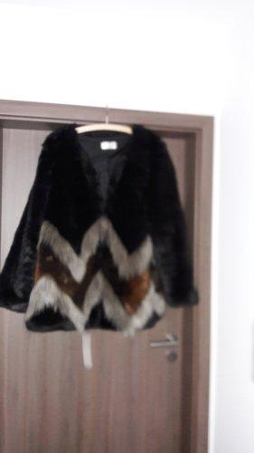 Rick Cardona NewYork Giacca di pelliccia marrone-nero Acrilico
