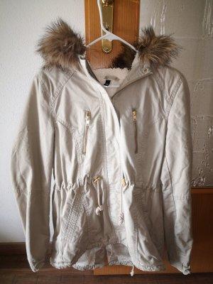 H&M Kurtka zimowa jasnobeżowy