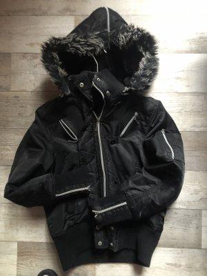 Chaqueta de invierno negro-blanco