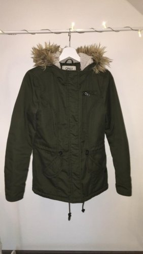 Only Parka verde scuro