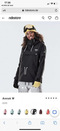 Dope Winter Jacket black-white
