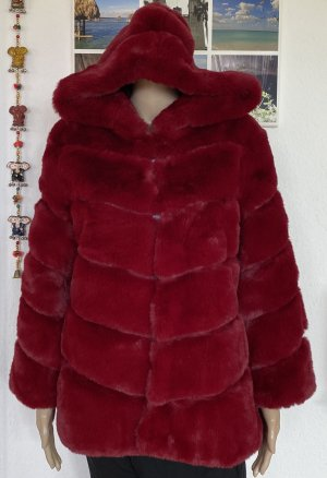 new collection Fake Fur Jacket carmine
