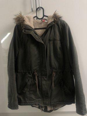 H&M Divided Kurtka zimowa khaki