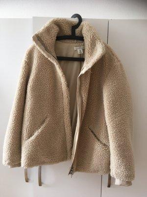 H&M Veste en fourrure crème-jaune clair laine