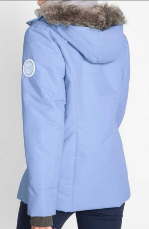 b.p.c. Bonprix Collection Chaqueta larga azul celeste