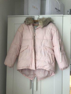 Winterjacke in rosa