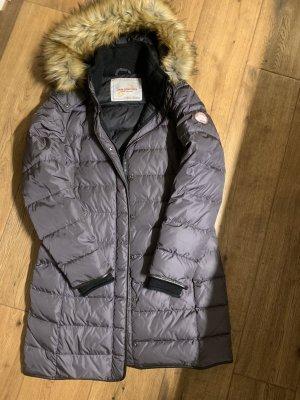 Jan Mayen Giacca lunga marrone-grigio Nylon