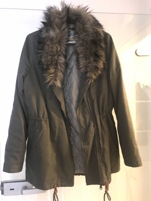 H&M Divided Fur Jacket multicolored