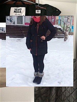 Winterjacke Mantel Parka Jacke tailliert Wintermantel gold Vero Moda