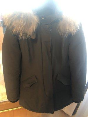 100% Fashion Fur Jacket khaki