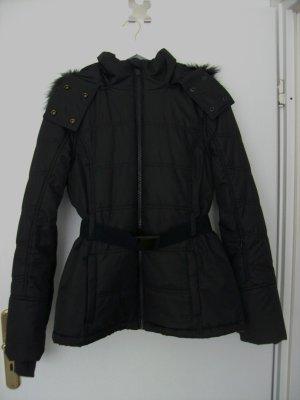 Winterjacke mit Kapuze schwarz von Topshop SNO