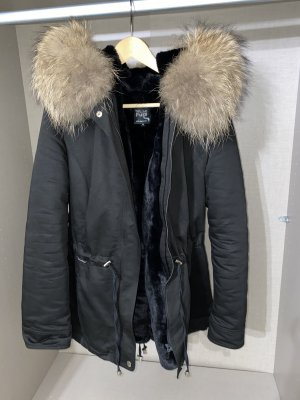 Welovefurs Pelt Coat black-beige