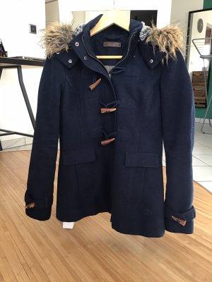 Tom Tailor Denim Duffle-coat bleu foncé-marron clair