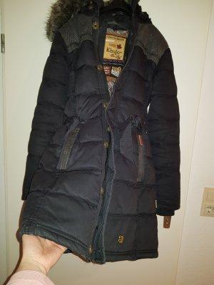 winterjacke parka von khujo in schwarz