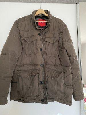 s.Oliver Chaqueta de invierno marrón grisáceo-marrón claro