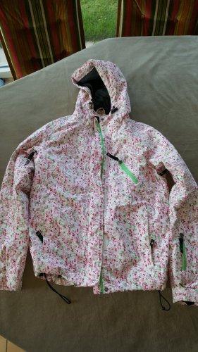 Winterjacke Skijacke S 36 38 weiß rosa grün