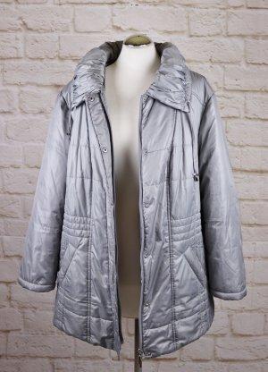 Winterjacke Steppjacke m. collection Größe XL 44 46 Silberfarben Grau Jacke Gefüttert