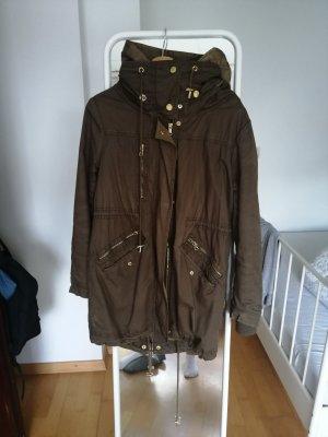 Zara Winter Coat olive green-khaki