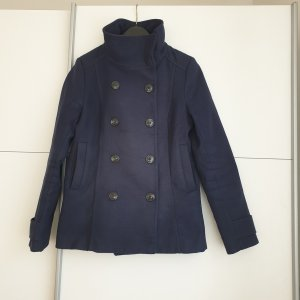 H&M Pea Jacket dark blue polyester