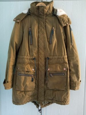 s.Oliver Winter Jacket olive green cotton