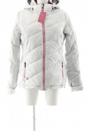 Winterjacke weiß-pink sportlicher Stil