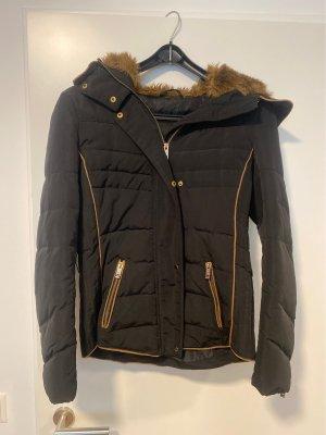 Zara Kurtka zimowa czarny-brązowy