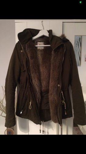 Winterjacke Zara Khaki