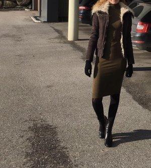Winterjacke Zara Lederoptik Größe M