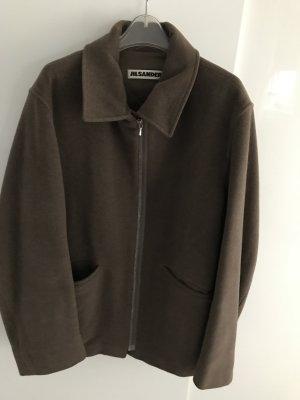 Jil Sander Chaqueta deportiva marrón grisáceo-color bronce Lana