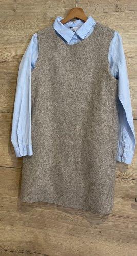 COS Robe en laine gris brun
