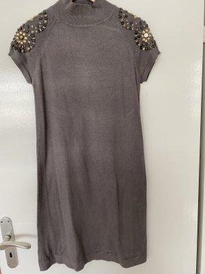 Sweaterjurk grijs-bruin