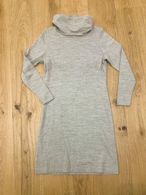 Winterkleid Strickkleid für große Oberweite v Eugen Klein Wolle Cappuccino Gr.36-38/S-M