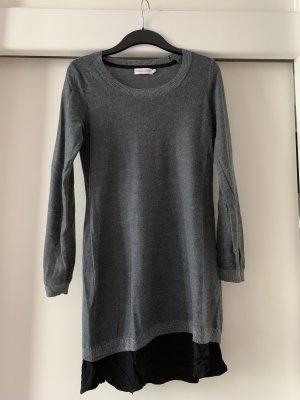 Paraphrase Robe en laine gris-noir