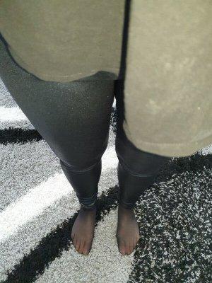 Winterleggings PU-Leder Leggings von UPFashion, Gr. M schwarz glänzend