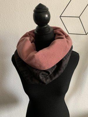 Sciarpone antracite-rosa