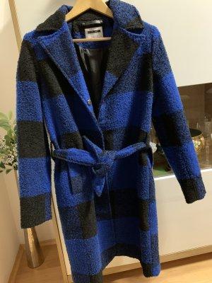 Noisy May Winter Coat black-dark blue