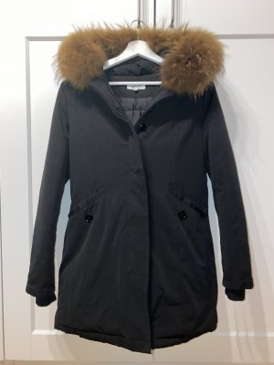 Effeny Abrigo con capucha negro