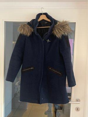 Conleys Manteau en laine bleu foncé