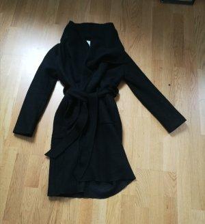 Bershka Wool Coat black