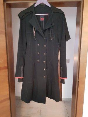 Marithé + Francois Girbaud Wool Coat black wool