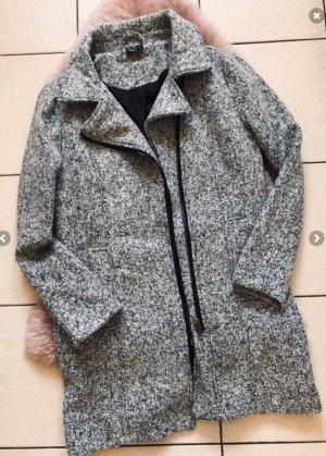 Takko Abrigo de invierno gris-negro Algodón