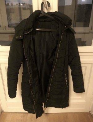 Płaszcz zimowy ciemnozielony-złoto